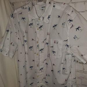 Sonoma Button Down Shirt White sz M